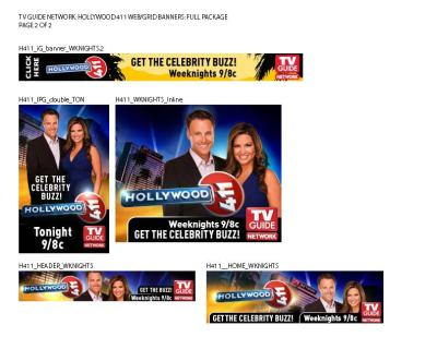 TV GUIDE - WEB ADS - HOLLYWOOD 411 -Pg2